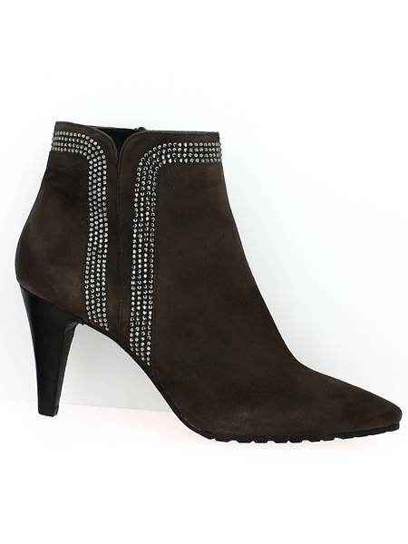 chaussures grande taille femme bottine emma taupe de jhay magasin grande pointure shoesissime. Black Bedroom Furniture Sets. Home Design Ideas