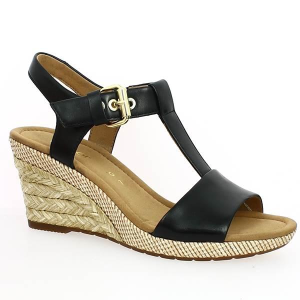 d8d38cc79df93f Sandale Compensée Grande Taille de Gabor - Pointure 41, Pointure 42 ...