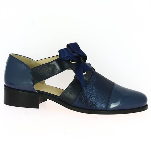 bc7ef8d2dff5 Derby Bleu pour femmes en grandes tailles - Chaussures Folie s 41 ...