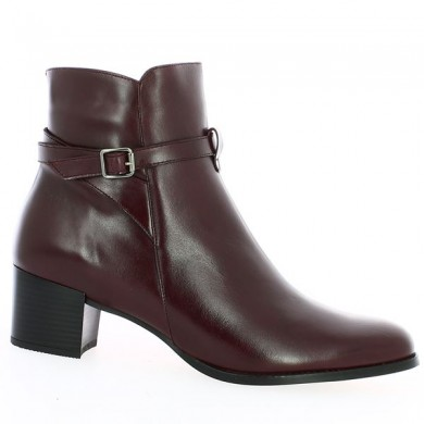 Comfort boot large size burgundy removable sole