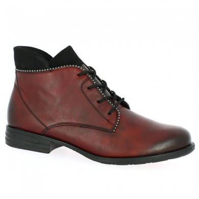 Boots Bordeaux Large Size Laces Shoe Pull Up Boots