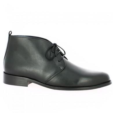 Bottine Noire à lacets Chaussures Grande Taille Femme