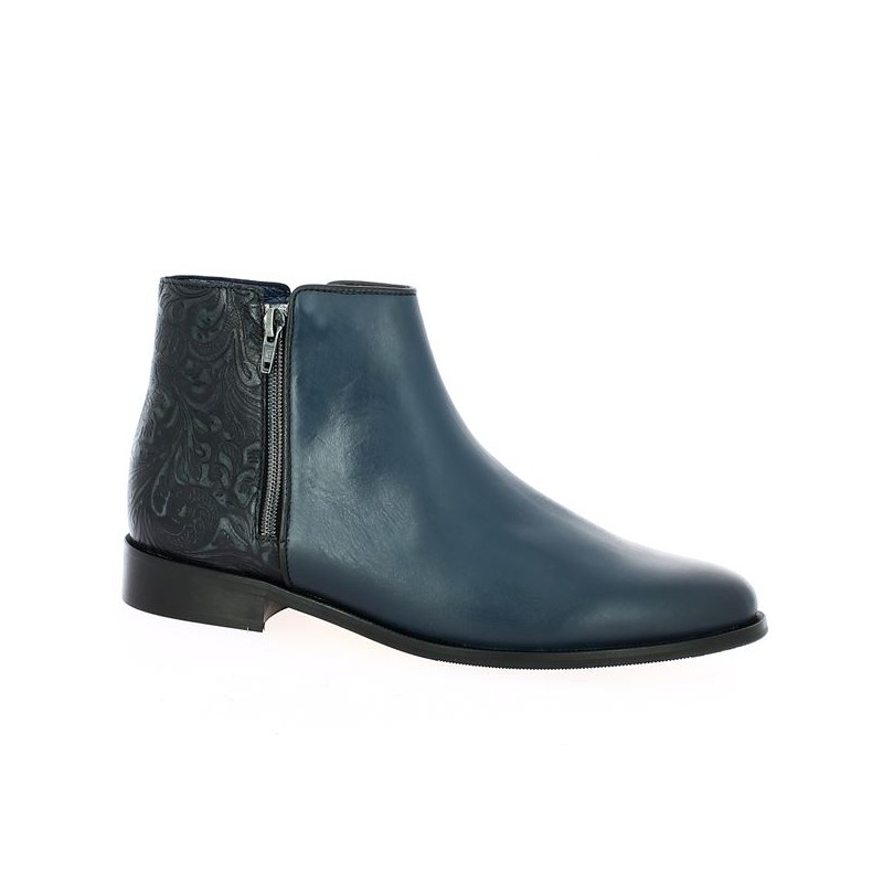 Blue leather boots 42, 43, 44, 45 large size