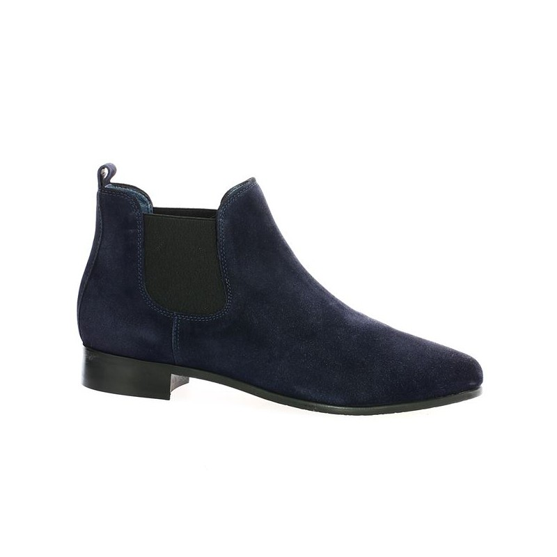 Blue Velvet Boot Large Size 42 43 44 45