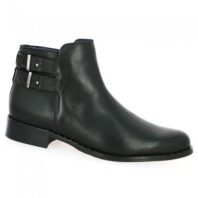 boots noire brides 42, 43, 44, 45 femme
