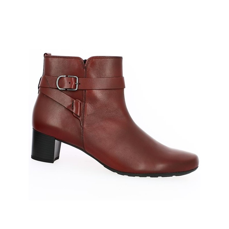 burgundy gabor big size heel boot