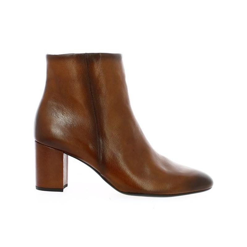 Large Size Camel Gabor Heel Boot