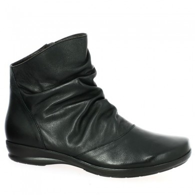 Leather bootie shoe big size