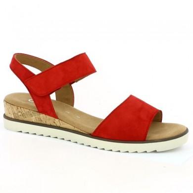 Compensée Rouge Gabor 8, 8.5, 9, 9.5 Shoesissime