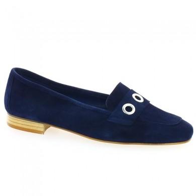 Mocassin bleu marine grande pointure Shoesissime