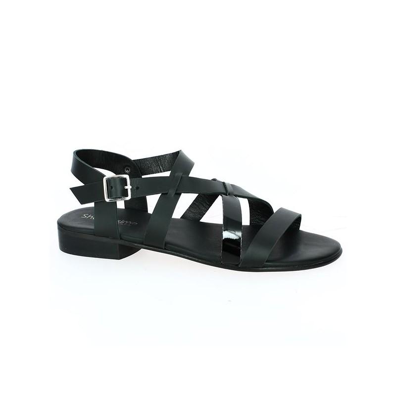 Sandale plate grande pointure femme
