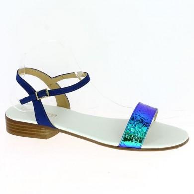 Sandales Femme Grande Taille Bleu