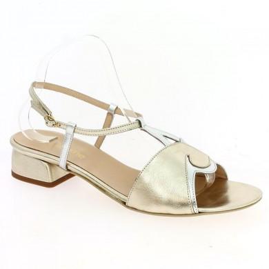 Sandale Grande Taille Or et Argent