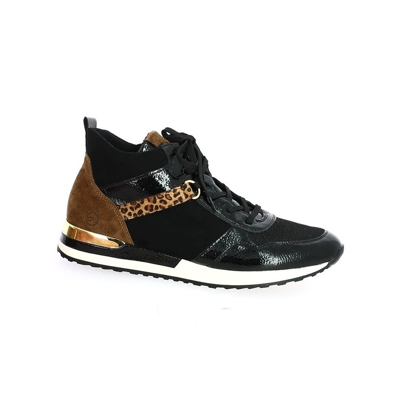 Leopard high top sneaker Remonte large size